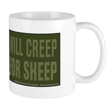 Border Collie Will Creep for Sheep Coffee Mug