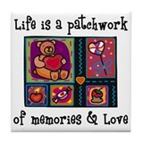 Life is A Patchwork - Quilt Tile Coaster