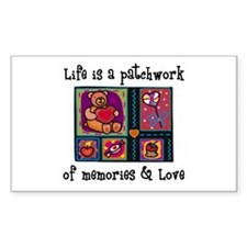 Life is A Patchwork - Quilt Rectangle Decal