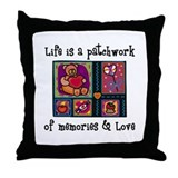 Life is A Patchwork - Quilt Throw Pillow
