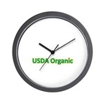 USDA Organic Wall Clock