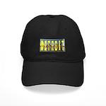 Detroit yellow lettering Black Cap