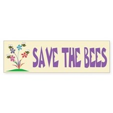 SAVE THE BEES Bumper Bumper Sticker