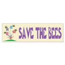 SAVE THE BEES Bumper Car Sticker