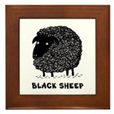 Black Sheep Framed Tile
