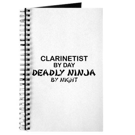 Clarinetist Deadly Ninja Journal