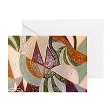 Earthtone Abstract Greeting Card