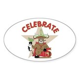 Cinco de Mayo Bull Oval Decal