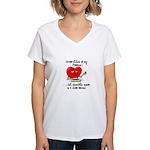 cross-stitch and chocolate Women's V-Neck T-Shirt