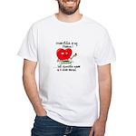 cross-stitch and chocolate White T-Shirt