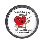 cross-stitch and chocolate Wall Clock