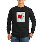 cross-stitch and chocolate Long Sleeve Dark T-Shir