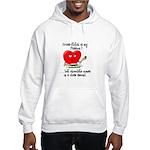 cross-stitch and chocolate Hooded Sweatshirt