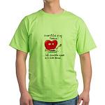 cross-stitch and chocolate Green T-Shirt
