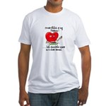 cross-stitch and chocolate Fitted T-Shirt