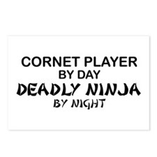 Cornet Player Deadly Ninja Postcards (Package of 8