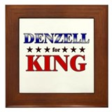 DENZELL for king Framed Tile