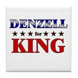 DENZELL for king Tile Coaster