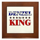 DENZEL for king Framed Tile