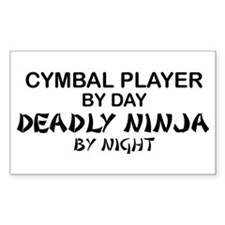 Cymbal Deadly Ninja Rectangle Decal