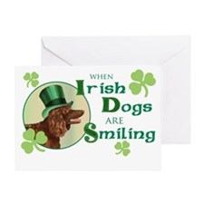 St. Patrick Irish Water Spani Greeting Card