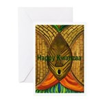 Kwanzaa Mask Series Greeting Cards (Pk of 20)