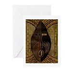 (10 pk) African Mask Greeting Cards