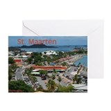 St. Maarten-Downtown by Khonc Greeting Cards (Pk o