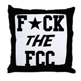 F*CK the FCC Throw Pillow