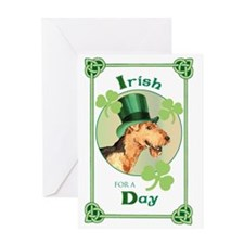 St. Patrick Airedale Greeting Card