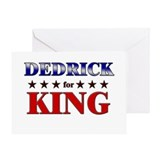 DEDRICK for king Greeting Card