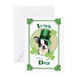 St. Patrick Boston Terrier Greeting Card