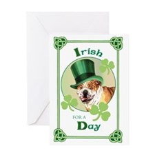 St. Patrick Bulldog Greeting Card