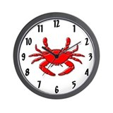 &quot;Red Crab&quot; Wall Clock