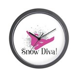Cute Snowboarding Wall Clock