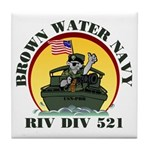 RivDiv 521 River Rats Tile Coaster