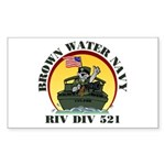 RivDiv 521 River Rats Rectangle Sticker