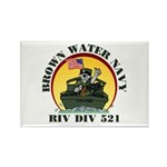 RivDiv 521 River Rats Rectangle Magnet