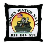 RivDiv 521 River Rats Throw Pillow