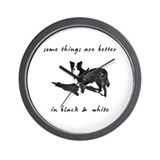 Border Collie Better Wall Clock