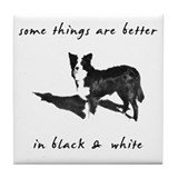 Border Collie Better Tile Coaster