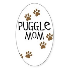 Puggle Mom Oval Decal