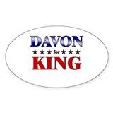 DAVON for king Oval Bumper Stickers
