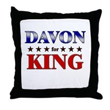 DAVON for king Throw Pillow