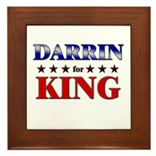 DARRIN for king Framed Tile