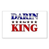 DARIN for king Rectangle Decal