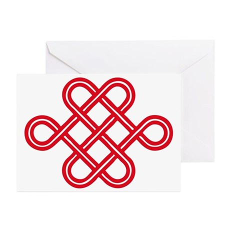 endless love knot Greeting Cards (Pk of 10)