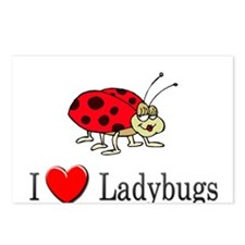 I Love Ladybugs Postcards (Package of 8)