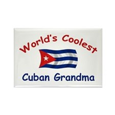 Coolest Cuban Grandma Rectangle Magnet