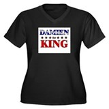 DAMIEN for king Women's Plus Size V-Neck Dark T-Sh